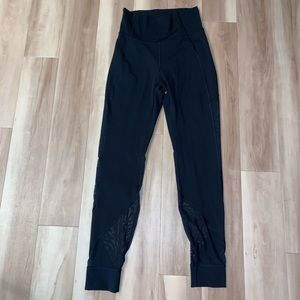 Lululemon High Waisted Black Tights Size 6 Sheer